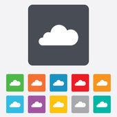 Cloud sign icon. Data storage symbol. — Stock Vector