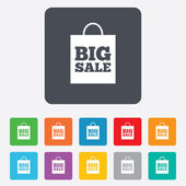 Big sale bag sign icon. Special offer symbol. — Vector de stock