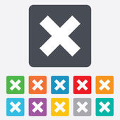 Delete sign icon. Remove button. — Stock Vector