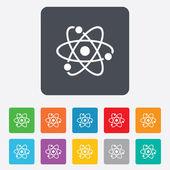 Atom sign icon. Atom part symbol. — Vecteur