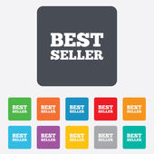 Best seller sign icon. Best seller award symbol — Vector de stock