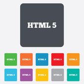 HTML5 sign icon. New Markup language symbol. — Vetorial Stock
