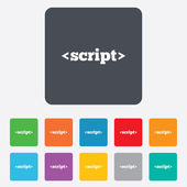 Script sign icon. Javascript code symbol. — Vector de stock