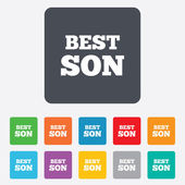 Best son sign icon. Award symbol. — Vector de stock