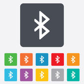 Bluetooth sign icon. Mobile network symbol. — Stock Vector