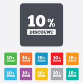 10 percent discount sign icon. Sale symbol. — ストックベクタ