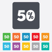 50 percent discount sign icon. Sale symbol. — Stock Vector