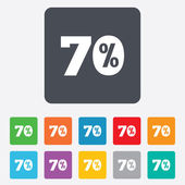 70 percent discount sign icon. Sale symbol. — ストックベクタ
