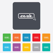 Domain CO.UK sign icon. UK internet subdomain — ストックベクタ
