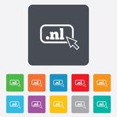 Domain NL sign icon. Top-level internet domain — Stock Vector