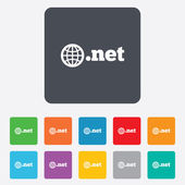 Domain NET sign icon. Top-level internet domain — ストックベクタ