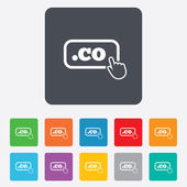 Domain CO sign icon. Top-level internet domain — Stock Vector
