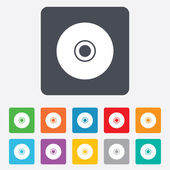 CD or DVD sign icon. Compact disc symbol. — Vector de stock