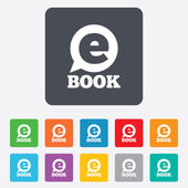 E-Book sign icon. Electronic book symbol. — Stock Vector