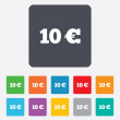 10 Euro sign icon. EUR currency symbol. — Stock Vector #47320223