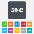 50 Euro sign icon. EUR currency symbol. — Stock Vector #47320407