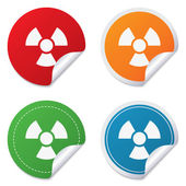 Radiation sign icon. Danger symbol. — Stock Vector