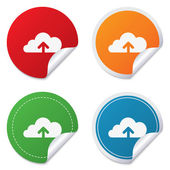Upload to cloud icon. Upload button. — Stock Vector