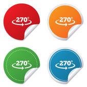 Angle 270 degrees sign icon. Geometry math symbol — 图库矢量图片