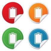 Batería completamente cargada icono de señal. electricidad. — Vector de stock