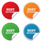 Best boyfriend sign icon. Award symbol. — Stockvektor