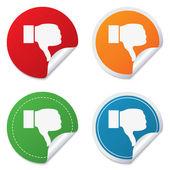 Dislike sign icon. Hand finger down symbol. — Stock Vector