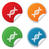 DNA sign icon. Deoxyribonucleic acid symbol. — Stock Vector