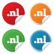 Постер, плакат: Domain NL sign icon Top level internet domain