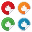 Fire flame sign icon. Fire symbol. — Stock Vector #47661743