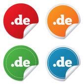 Domain DE sign icon. Top-level internet domain — Stock Vector