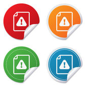 File attention sign icon. Exclamation mark. — 图库矢量图片