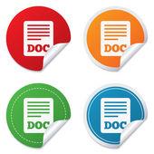 Dosyayı belge simgesi. Download Doktor düğmesi. — Stok Vektör