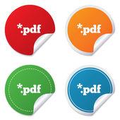 Pdf-bestand documentpictogram. Download Pdf-knop. — Stockvector