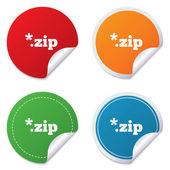 ícone de arquivo do arquivo. botão de zip download. — Vetor de Stock