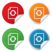 File document refresh icon. Reload doc symbol. — Wektor stockowy