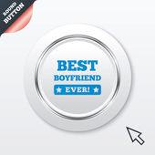 Best boyfriend ever sign icon. Award symbol. — Stock Vector
