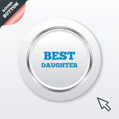Best daughter sign icon. Award symbol. — Stock Vector
