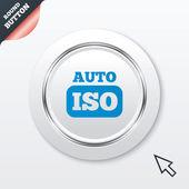 ISO Auto photo camera sign icon. Settings symbol — Stock Vector