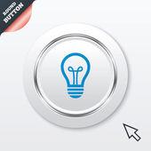Light lamp sign icon. Idea symbol. — Stock Vector
