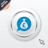 お金の袋の記号アイコン。ポンドの gbp 通貨. — ストックベクタ