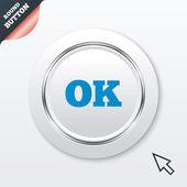 記号アイコン [ok] を。肯定的なチェック記号. — ストックベクタ
