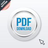 PDF download icoon. uploaden bestand knop. — Stockvector