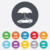 Car insurance sign icon. Protection symbol. — Vecteur