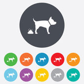 Feces sign icon. Clean up after pets symbol. — Vettoriale Stock