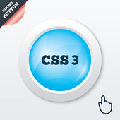 CSS3 sign icon. Cascading Style Sheets symbol. — Stock Vector