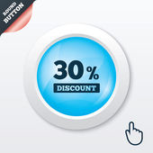 30 percent discount sign icon. Sale symbol. — Stock Vector