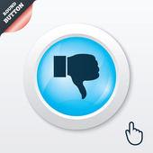 Abneigung zeichen symbol. hand finger nach unten symbol. — Vecteur