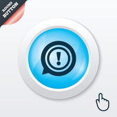 Exclamation mark sign icon. Attention symbol. — Vecteur