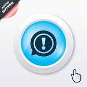 Exclamation mark sign icon. Attention symbol. — Stockvector