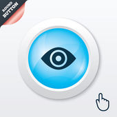 Eye sign icon. Publish content button. — Stock Vector